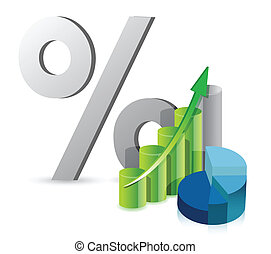 graph pie chart and discount percentage