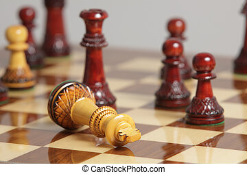Chess king surrender - King surrender on a chessboard.