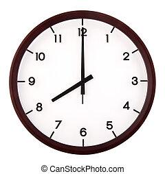 Analog clock - Classic analog clock pointing at 8 o'clock,...
