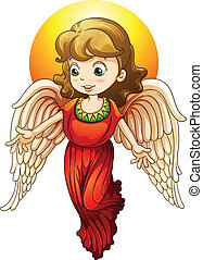 fairy - illustration of a fairy on a white background