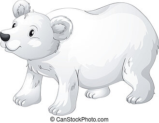 polar bear - illustration of polar bear on a white...