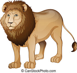 lion - illustration of a lion on a white background