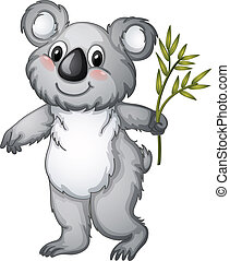 Koala - illustration of a koala bear on a white background