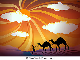 man and camel