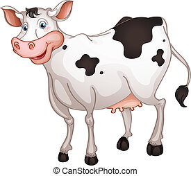 Cow - illustration of cow in a white background