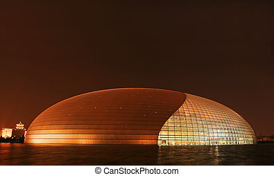 The newly opened Beijing National Theater Complex – Giant Egg