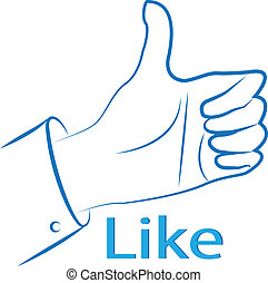Thumb up hand design - Hands with thumb up sign silhouette...