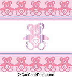 Teddy bear - pink teddy bear with teddy bears around
