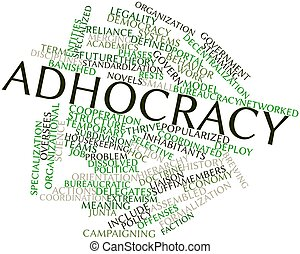 Adhocracy - Abstract word cloud for Adhocracy with related...