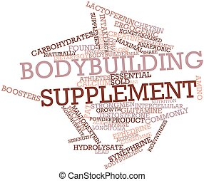 Bodybuilding supplement - Abstract word cloud for...
