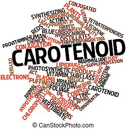 Carotenoid - Abstract word cloud for Carotenoid with related...