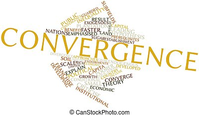 Convergence - Abstract word cloud for Convergence with...