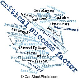 Critical success factor - Abstract word cloud for Critical...