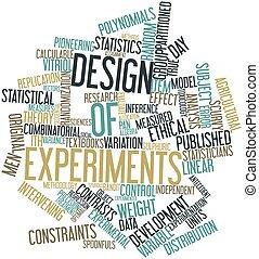 palabra, nube, diseño, experimentos