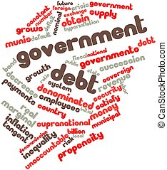 Government debt - Abstract word cloud for Government debt...