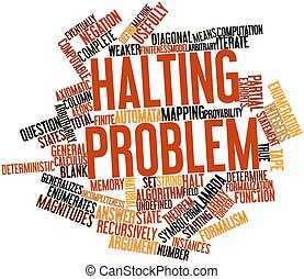 Halting problem - Abstract word cloud for Halting problem...