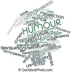 Word cloud for Humour - Abstract word cloud for Humour with...