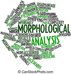 Morphological analysis - Abstract word cloud for...