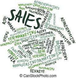 Word cloud for Sales - Abstract word cloud for Sales with...