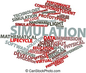 Simulation - Abstract word cloud for Simulation with related...