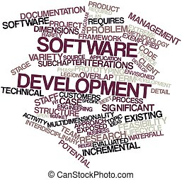 Word cloud for Software development - Abstract word cloud...