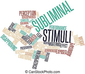 Subliminal stimuli - Abstract word cloud for Subliminal...