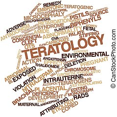 Teratology - Abstract word cloud for Teratology with related...