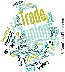 Word cloud for Trade union - Abstract word cloud for Trade...
