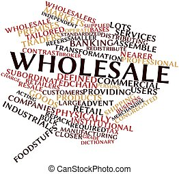 Wholesale - Abstract word cloud for Wholesale with related...