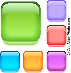 Push buttons set, eps10 vector illustration