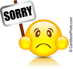 Sorry vector smiley - Sorry smiley, vector illustration