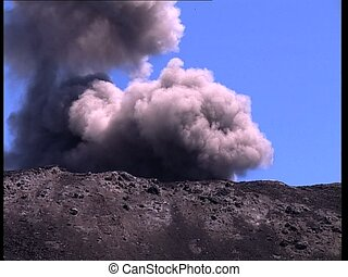 VOLCANO dust explosion det1 - An explosion on top of a...