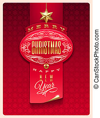 Christmas greeting vector design