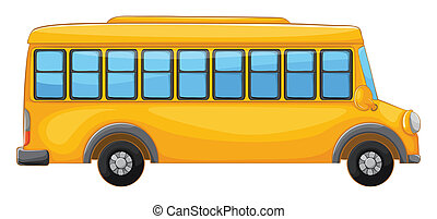 a bus - illustration of a bus on a white background