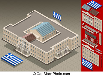 isometric Greek Parliament - Detailed animation of a...