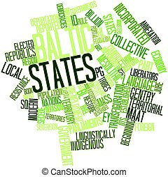 Baltic states - Abstract word cloud for Baltic states with...