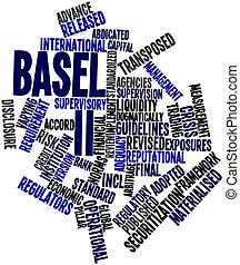 Word cloud for Basel II - Abstract word cloud for Basel II...