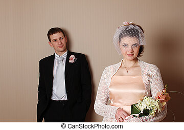 Attractive couple portraits