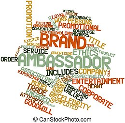 Brand ambassador - Abstract word cloud for Brand ambassador...