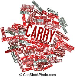 Carry - Abstract word cloud for Carry with related tags and...