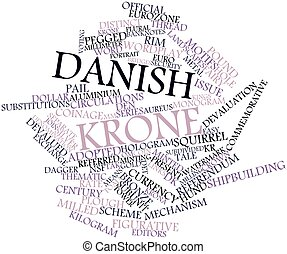 Word cloud for Danish krone - Abstract word cloud for Danish...