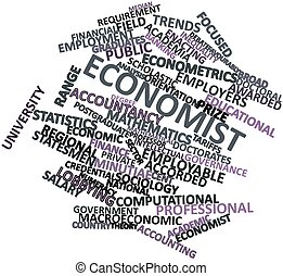 Word cloud for Economist - Abstract word cloud for Economist...
