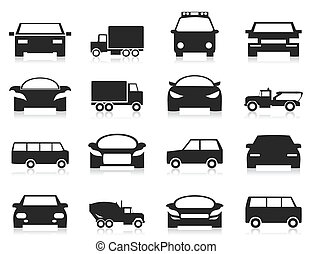 Car icon3 - Set of icons of cars. A vector illustration