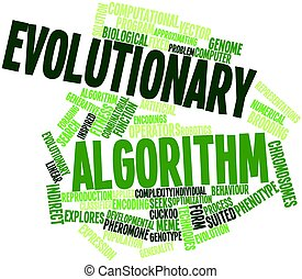 Evolutionary algorithm - Abstract word cloud for...