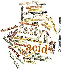 Fatty acid - Abstract word cloud for Fatty acid with related...