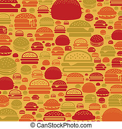Hamburger a background - Background made of a hamburger. A...