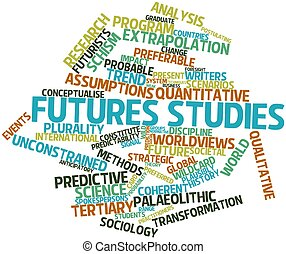 Futures studies - Abstract word cloud for Futures studies...