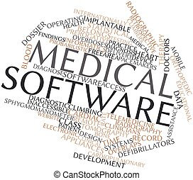 Medical software - Abstract word cloud for Medical software...