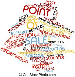 Word cloud for Point of sale - Abstract word cloud for Point...