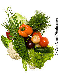 vegetables isolated